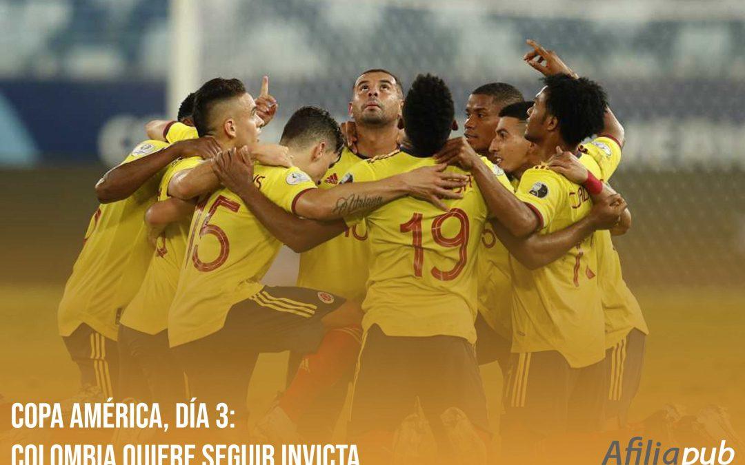 Copa América, día 3: Colombia quiere seguir invicta