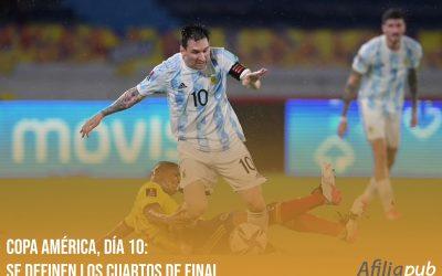 Copa América 2021, día 10: Se definen los cuartos de final